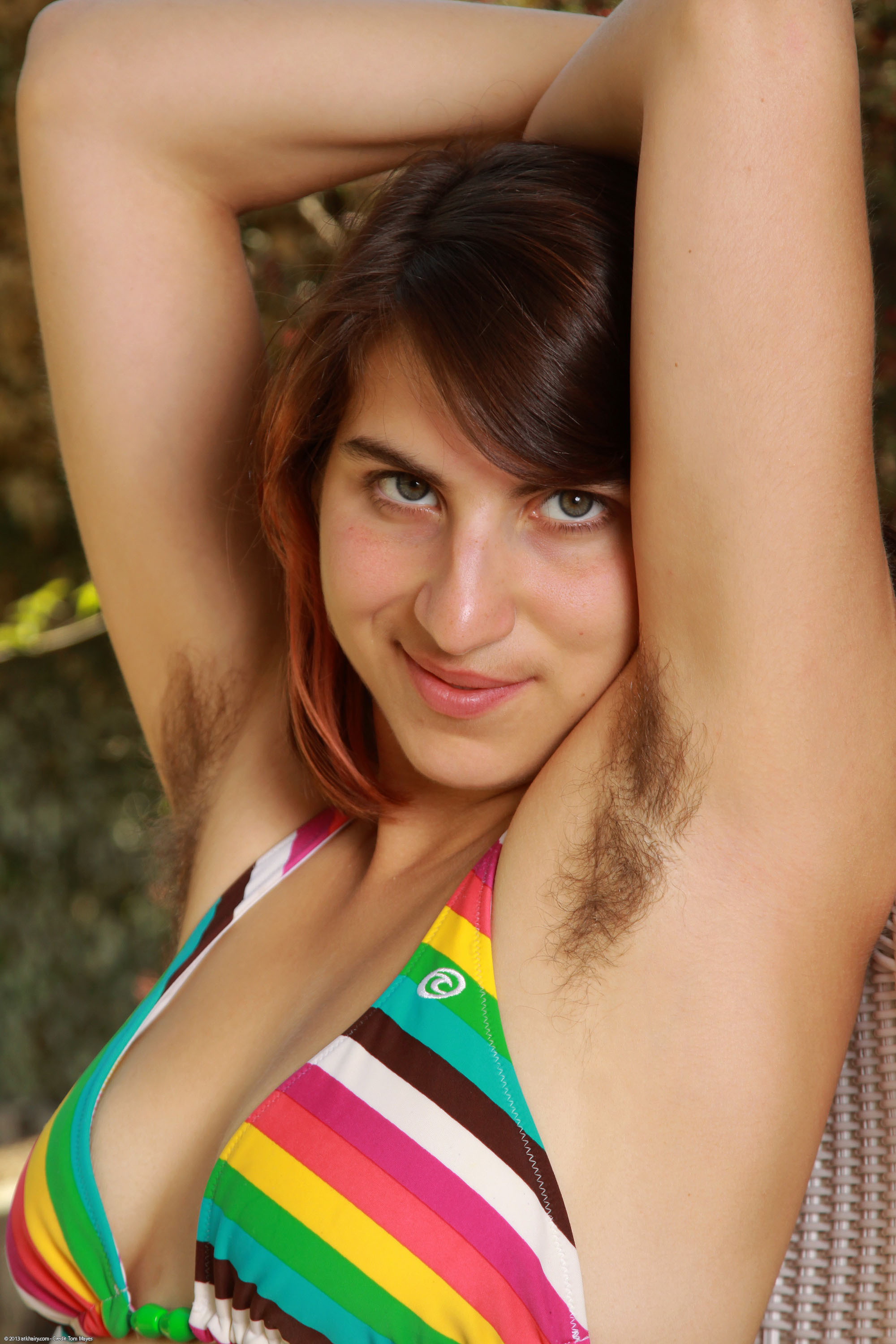 Hairy armpits with women